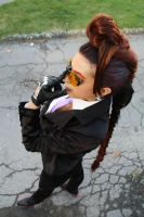 my cosplay Crimson Viper Street fighter by Michela1987