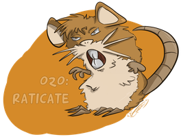 020: Raticate by Speedvore