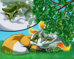 PKMNation Fluffy bed by EtheralSnow