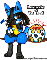 Lucario and Togepi by Shijima18