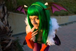 Cosplay of Morrigan Aensland by JudyHelsing