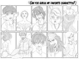 My favourite characters by Tella-in-SA