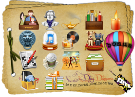 DayDreams Set: 12Icone/Png Free Windows/Dock/Linux by AEONFLAX