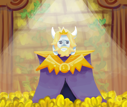 Asgore by magicandscrews