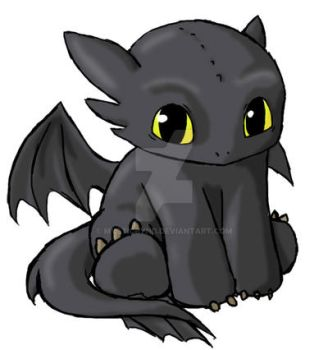 Toothless Chibi by Mysticbynd