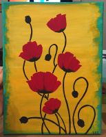 Poppies Painting 2 by Sorenli
