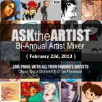 ASKtheARTIST Bi-Annual Artists Mixer Panel by thefluffyshrimp