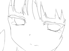 Crying Mio lineart by ellerosey