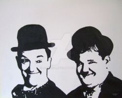 Laurel and Hardy by Mazzi294