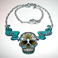 Los Muertos Necklace by Horribell-Originals