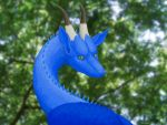 Blue dragon portrait by RacieB