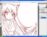 fox girl - WIP by strawberrycake