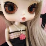 Cute rose necklace for Blythe, Pullip, Dal, Momoko by gemmadoll
