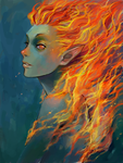 The Fire Spirit by ahobaga
