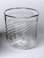 mould blown glass cup by fragilecraft