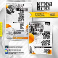 Stylish Black Party Template by iQdiz