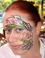 tattooed face by thepinupgirl