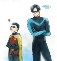 Dick and Damian by Haining-art