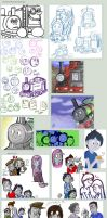 TAF: Gifts,sketches and colour by RKPiratedrawer