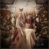 The Queen is Waiting by Josiane-Rey