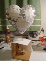 Gear Heart Papercraft by Jophish126