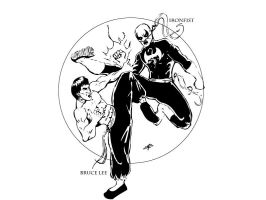 Ironfist vs Bruce Lee by thEbrEEze