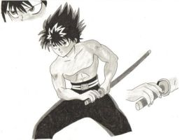 Hiei - Another gift for Aryll by KuroHaneTenshiN
