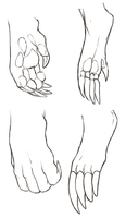 Gog hands and feet by mute-owl