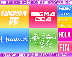 +Pack De Fonts by Erika-Diaz