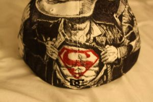 DC Comics Hat Art Commission: Superman by artbyjoewinkler