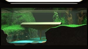 Wooden Bridge in an Aquarium by turquoiserabbit