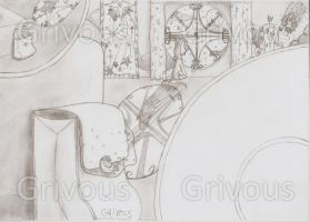 Mysterious Scene_sketch02 by Grivous