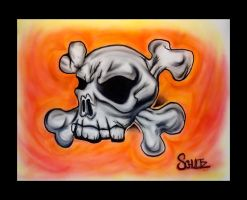 Airbrush Skull II by dx