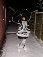 Gothic Lolita and the Snow by FallenzAngel