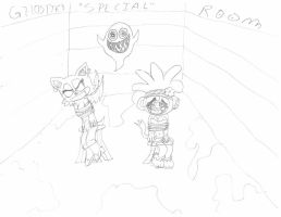 Rouge and Amiga (Request) by SonicFreak4455