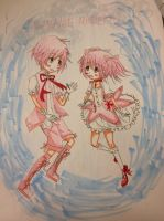 Madoka and Kaname~ by LovableQueen