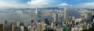 Victoria Harbour Panorama by johnchan