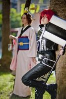 D Gray Man - 2nd Uniform Lavi and Chomesuke by ShinrasFlurry