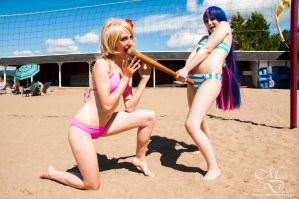 Beach Cosplay - What do you think of my... long... by maverickdelta