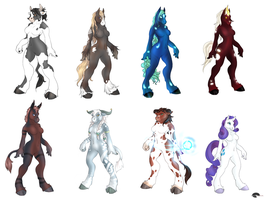 Taurens and Mares adoptables by Shalinka