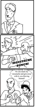 Moustache Punch by IchikoWindGryphon