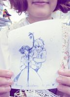 With Jack Frost. So cute art. by 8Liru-chan8