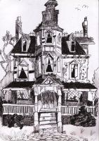 creepy house by crowfused