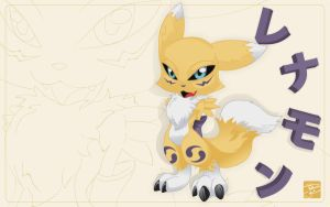 RENAMON CHIBI WALLPAPER by gurudJ