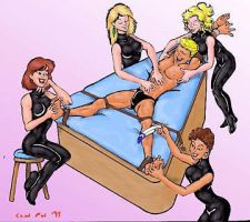5 girls on a guy by ilovefood2011