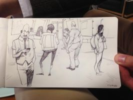 more BART sketchin by GWhitehall