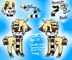 Snuggles Reference Sheet 2013 by snickIett