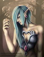 Night Elf Leda by darkarctik