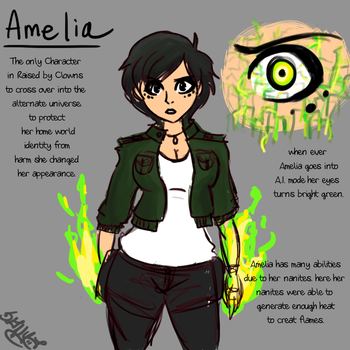 Amelia Reference Sheet - RbC Alternate Universe by sonyasoniclover12