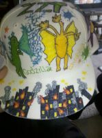 Godzilla Hat Front by theTightestButthole